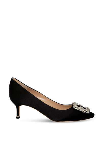 Hangisi Satin Pumps
