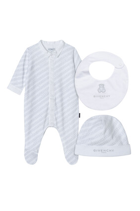 Chain Logo Pyjama & Hat Gift Set