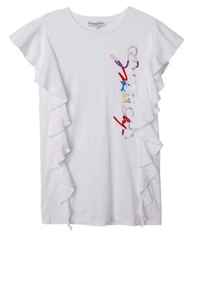 Logo Ruffle T-Shirt