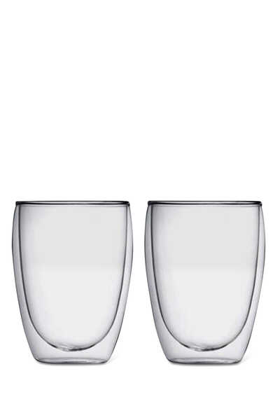 Pavina Double Wall Glass, Set Of Two