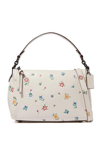 Shay Crossbody Wildflower Print Leather Bag