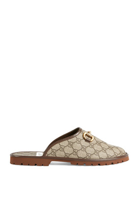 GG Canvas Mules