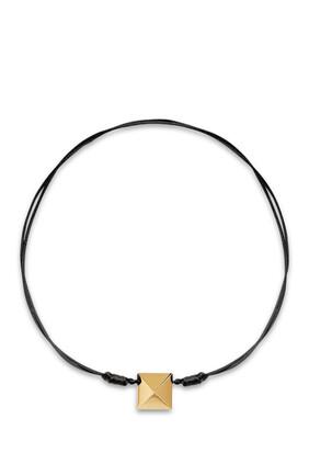 Rockstud Leather Necklace