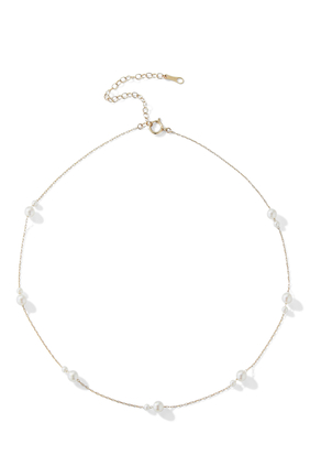 Kissing Double Akoya Pearl Necklace