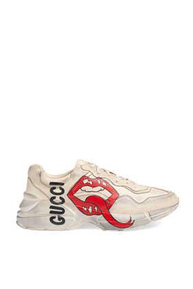 Rhyton Mouth Print Sneakers
