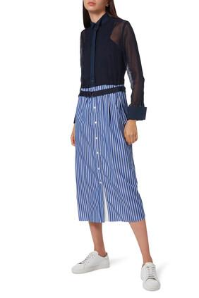 Cotton Poplin Belted Dress