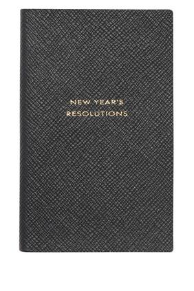 """New Year's Resolution"" Panama Notepad"
