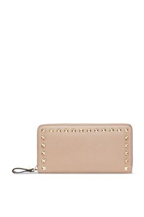 Rockstud Zippered Wallet