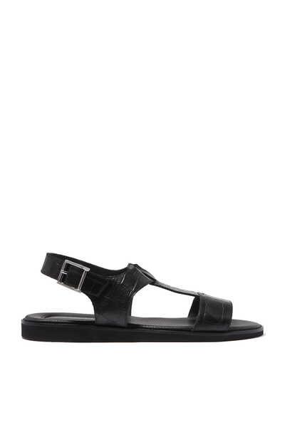 Itaca Crocodile-Embossed Sandals
