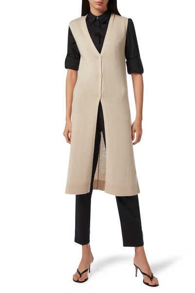 Sleeveless Wool Cardigan