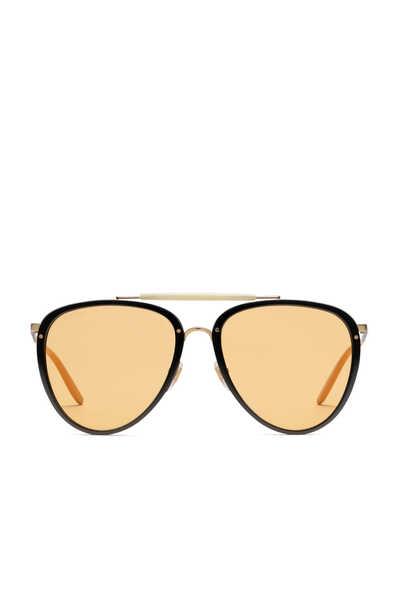 Aviator Metal and Acetate Sunglasses