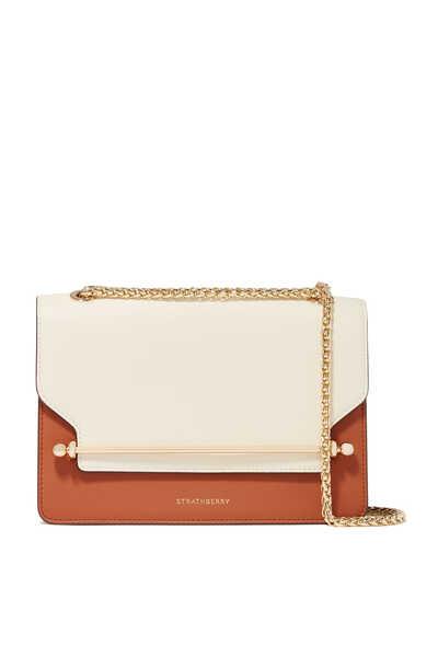 East/West Mini Tri-Color Leather Bag