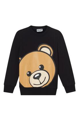 Teddy Bear Print Sweatshirt