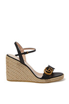 Leather Platform Espadrille