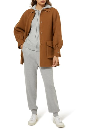 Double Faced Wool Blend Coat