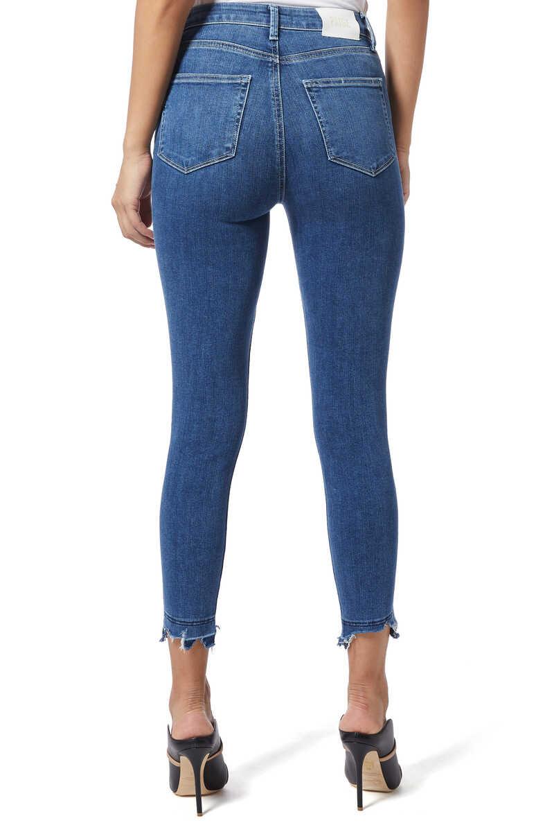 Margot Crop Ripped Denim Jeans image number 3