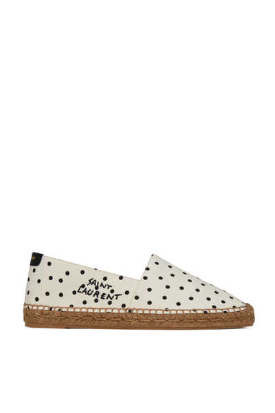 Dotted Embroidered Espadrilles