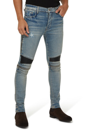 MX2 Leather Panel Jeans