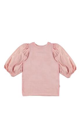 Plain Puffy Sleeves Shirt