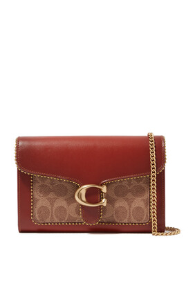 Tabby Chain Clutch In Signature Canvas With Beads