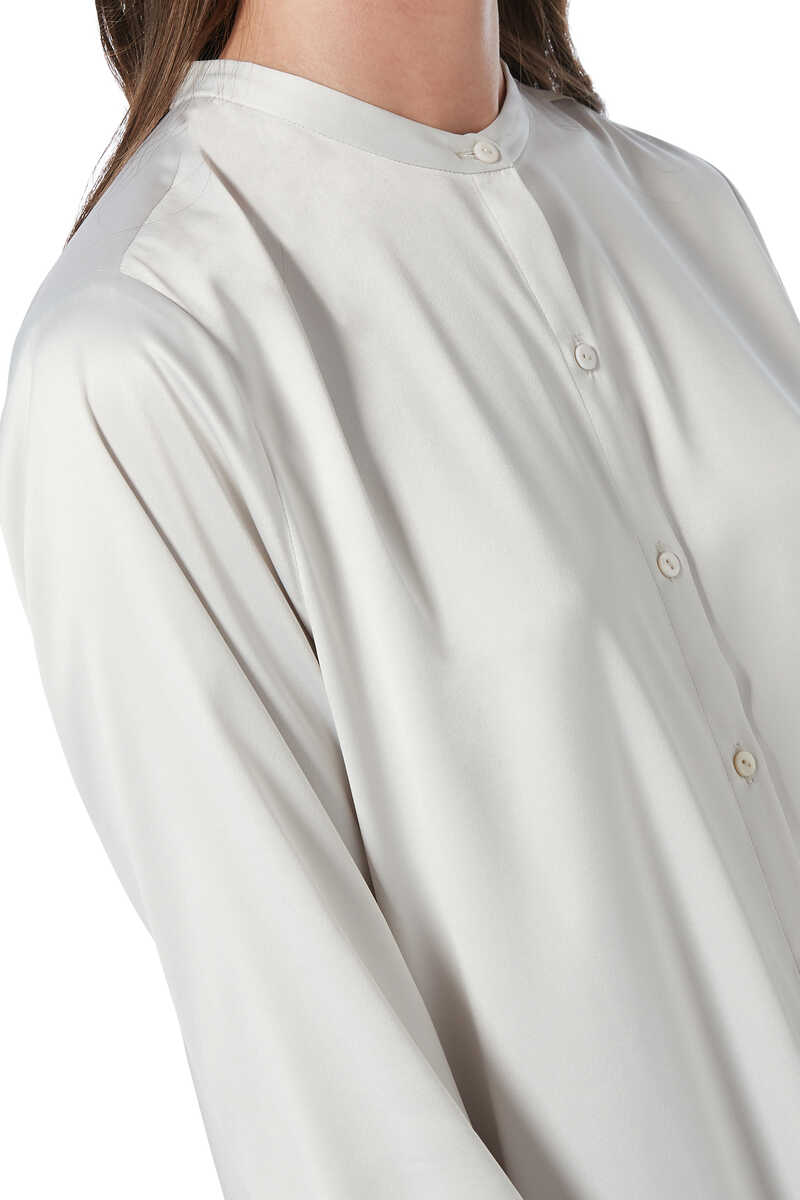 Satin Shirt Dress image number 8