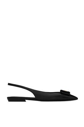Anais Slingback Leather Flats