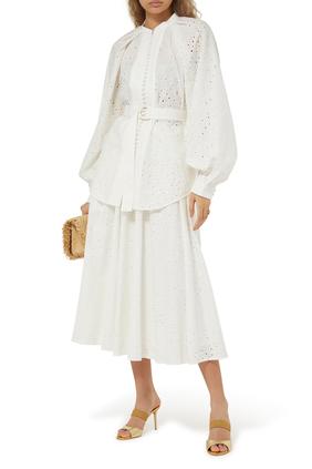 Amelia Lace Midi Skirt
