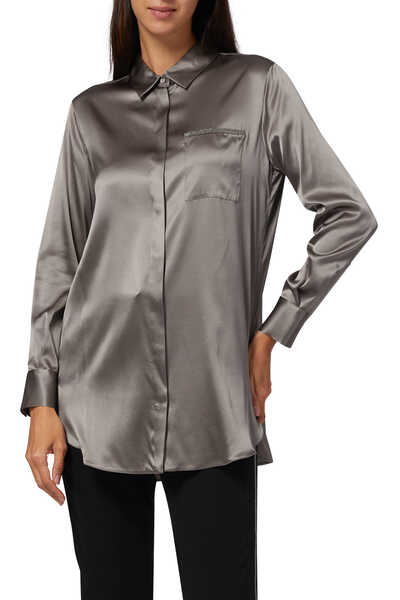 Embellished Satin Shirt