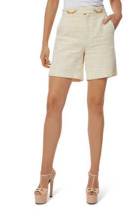 Tweed Horsebit Shorts