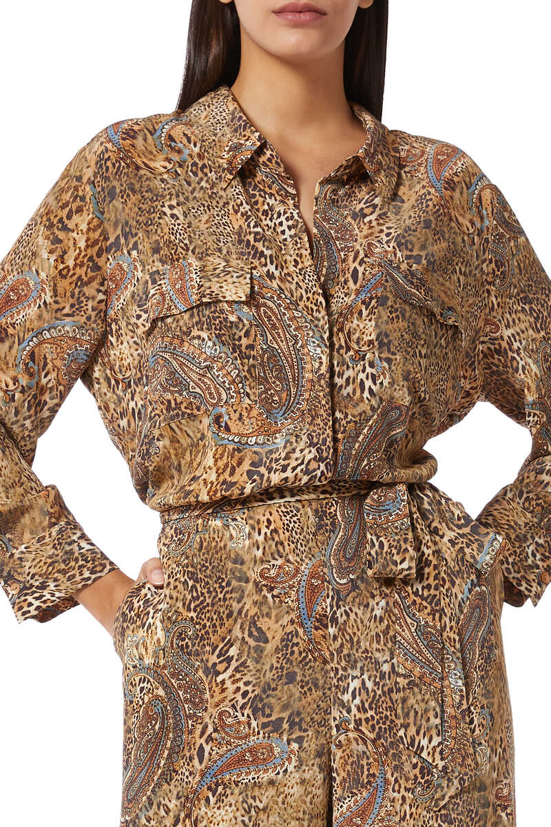 Teddy Leopard and Paisley Print Jumpsuit image number 4
