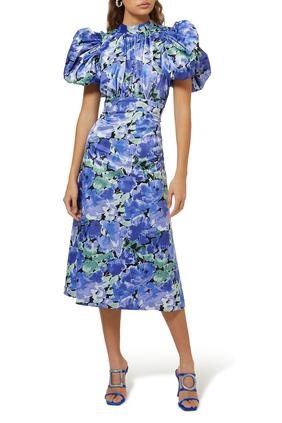 Dawn Floral Print Midi Dress