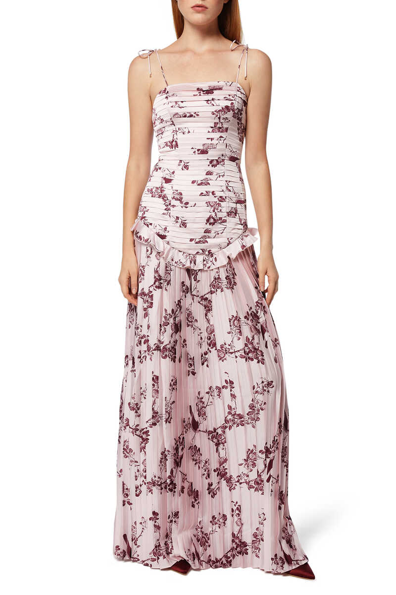 Belle Floral-Print Gown image number 1