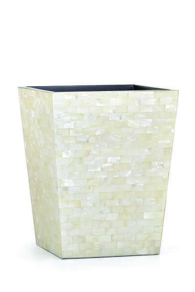 White Agate Waste Basket