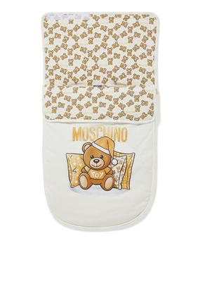 Teddy Bear Print Sleeping Bag
