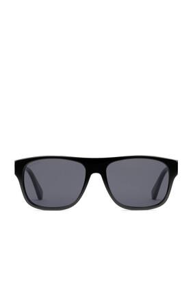 Rectangular-frame Acetate Sunglasses