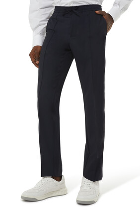 Drawstring Piping Trousers