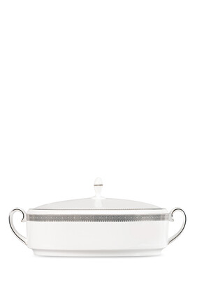 Vera Wang Lace Platinum Covered Vegetable Dish