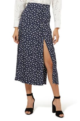 Horse Print Jacquard Skirt
