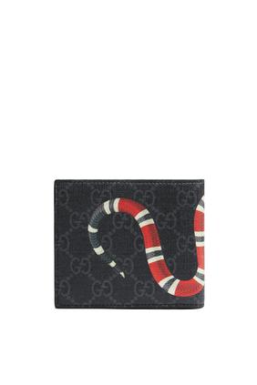GG Supreme Kingsnake Print Large Wallet