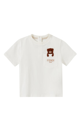 Embroidered Bear in Pocket T-shirt