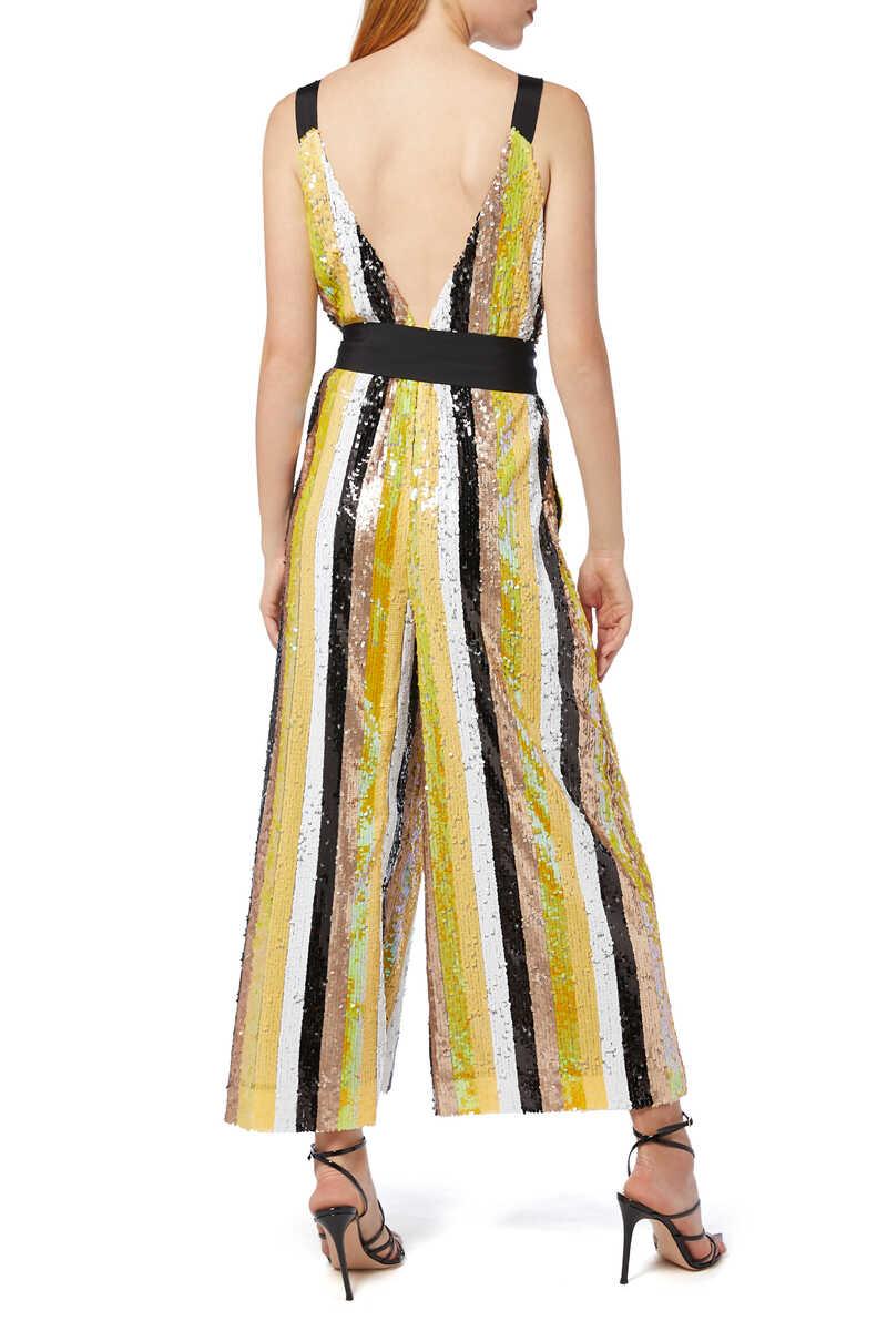 Puli Sequin Striped Jumpsuit image number 3