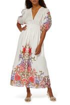 Poppy Shirred Waist Midi Dress