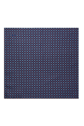 Printed Pocket Square in Silk